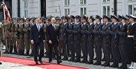 Церемония официальной встречи Президента Азербайджана Ильхама Алиева в Варшаве