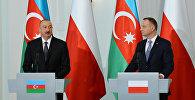 Президенты Азербайджана и Польши выступили с заявлениями для печати