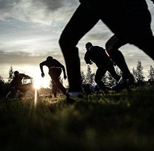 Тренировка команды по регби Варяг