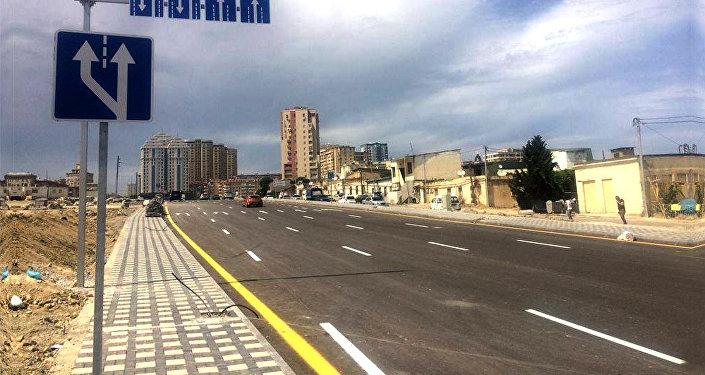 Sovetskidə yeni salınmış yol