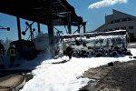 Пожар на нефтебазе «Свитанок» в пригороде Одессы в поселке Усатово