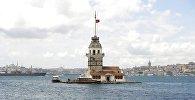 İstanbulda, Bosfor boğazında yerləşən Qız qalası