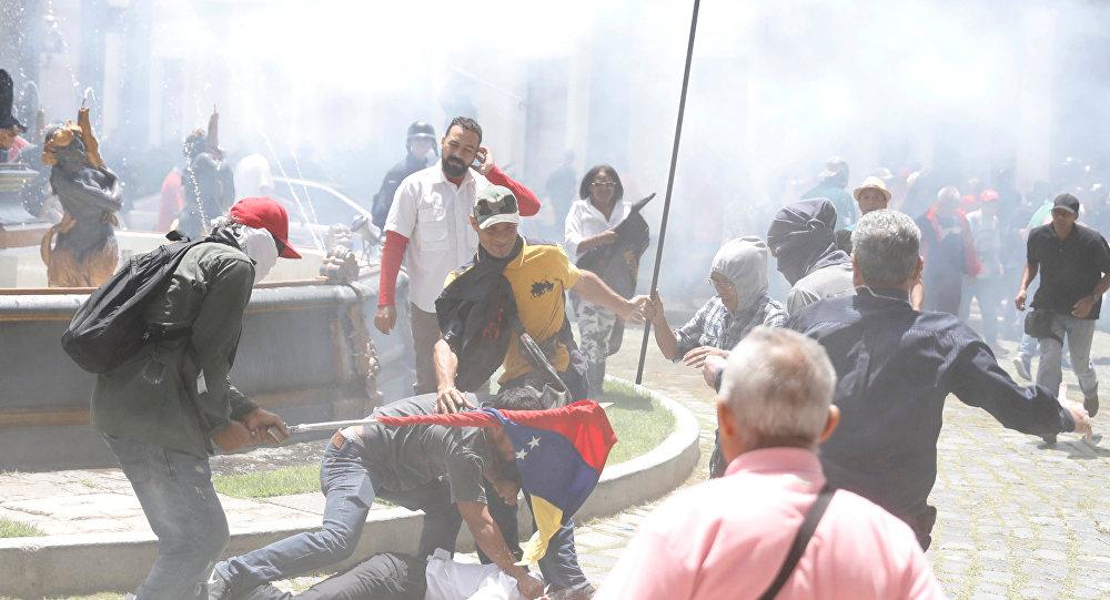 Venesuelanın paytaxtı Karakasda ixtişaşlar, arxiv şəkli
