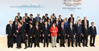 G20 liderləri Hamburqdakı sammitdə