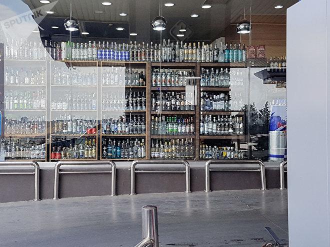 Витрина с алкоголем