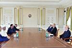 Президент Ильхам Алиев принял делегацию из Узбекистана