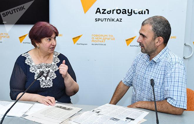 Азербайджанская писательница Гюльшан Тофикгызы в редакции агентства Sputnik Азербайджан