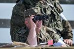 Тактические учения на высокогорном полигоне Алагяз российской военной базы Южного военного округа, дислоцирующейся в Армении, фото из архива