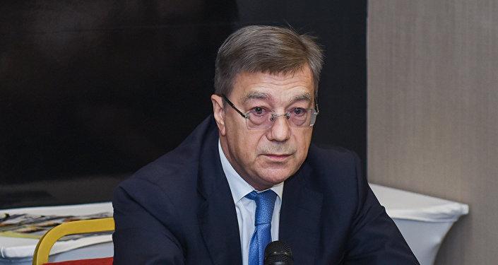 Посол России в Азербайджане Владимир Дорохин в ходе конференции общественных объединений российских соотечественников в АР