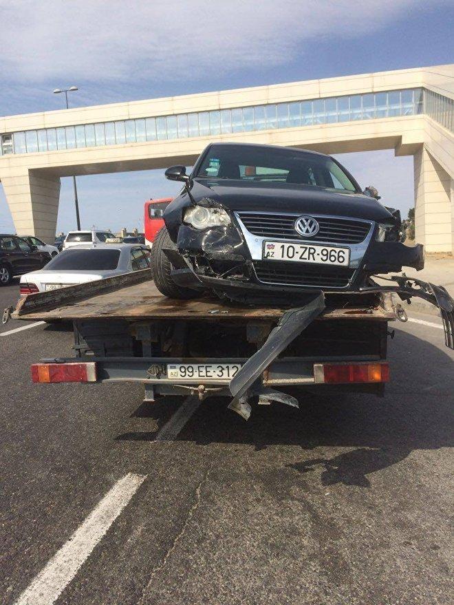 Heydər Əliyev prospektində baş vermiş yol-nəqliyyat hadisəsi