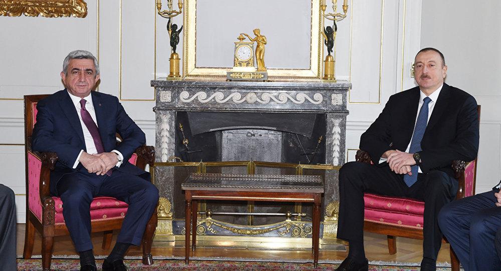 Встреча президентов Азербайджана и Армении в Берне, фото из архива