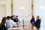 Президент Азербайджана Ильхам Алиев принял делегацию во главе с федеральным министром по делам семьи и молодежи Австрии Софи Кармасин