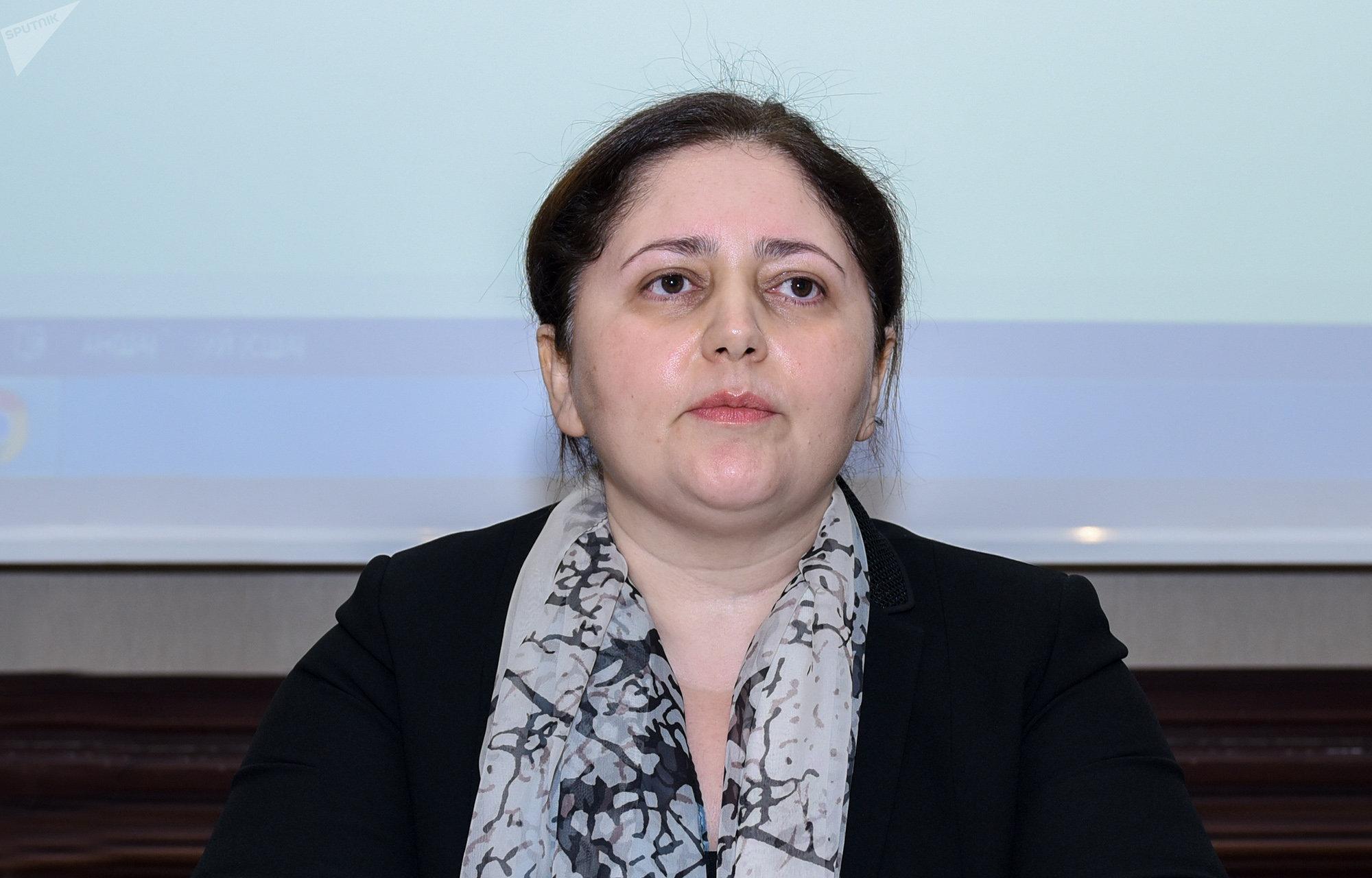 Заместитель председателя Государственного комитета по проблемам семьи, женщин и детей Айнур Софиева