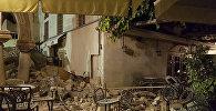 Поврежденные землетрясением здания на острове Кос, Греция, 21 июля 2017 года