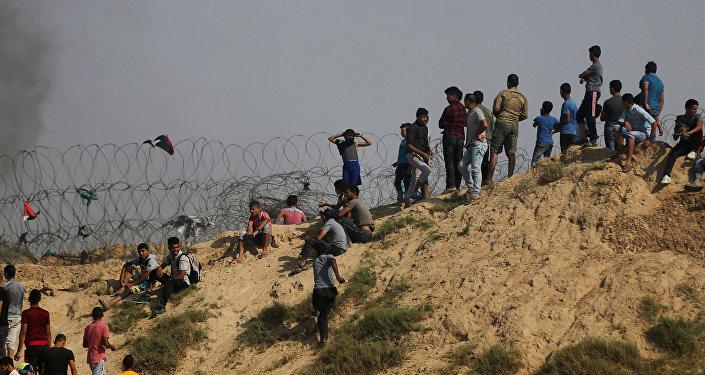 Протесты палестинцев на границе между Израилем и сектором Газа, 21 июля 2017 года