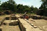 Археологические раскопки в селе Тюлю Балакенского района