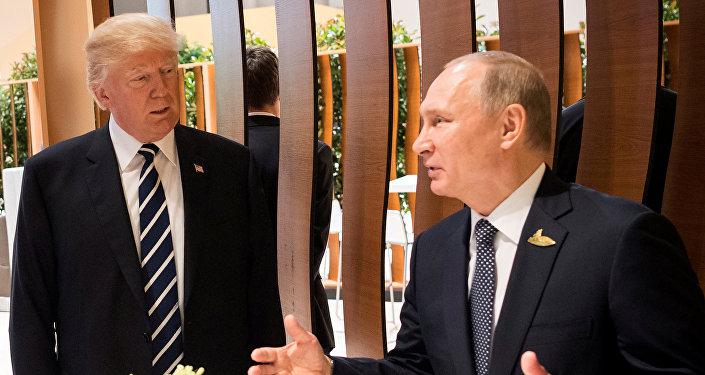 Встреча президентов США и России Дональда Трампа и Владимира Путина