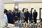 Президент принял участие в открытии в Балакене ремесленного центра ABAD