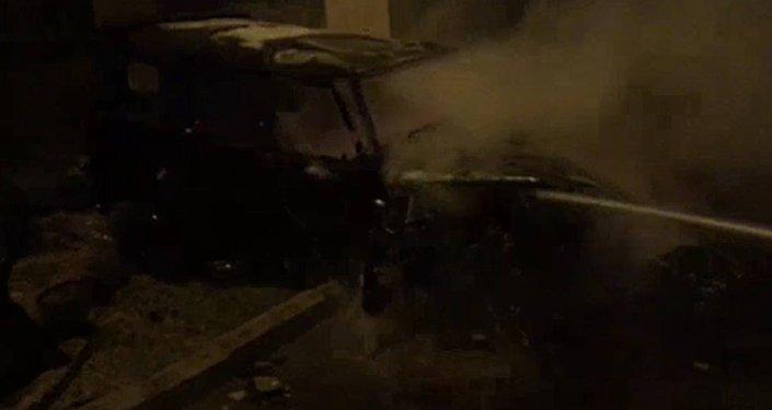 В Баку сгорел Mercedes Gelandewagen