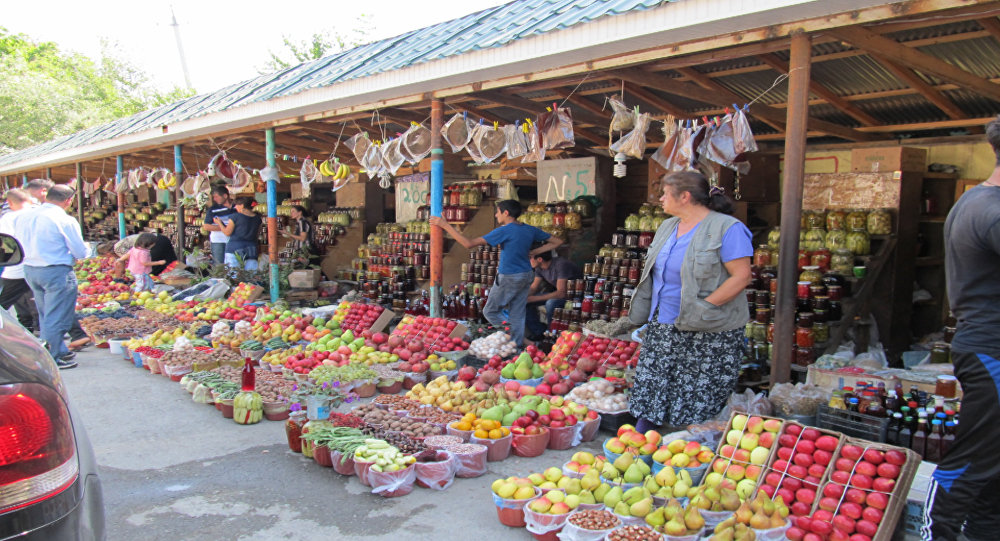 Ведёрный рынок в селе Вандам, что в Габалинском районе