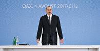 Выступление Ильхама Алиева на общереспубликанском совещании в Гахе