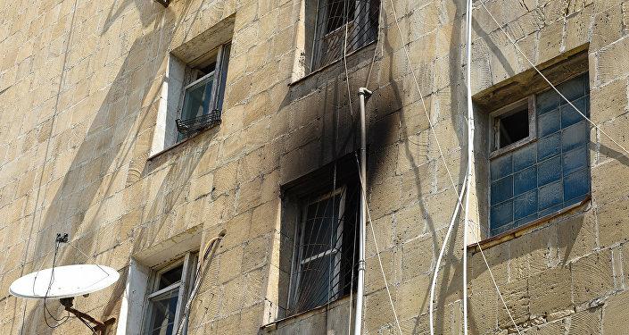 Sumqayıt Dövlət Universitetinin yataqxanası baş vermiş yanğından sonra