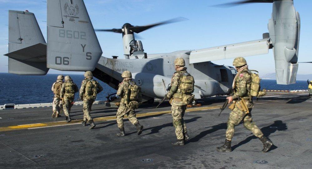 Катар иТурция провели общие военные учения
