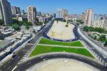 Новые дороги в Ясамальском районе Баку, архивное фото