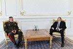Председатель Государственного пограничного комитета Беларуси Анатолий Лаппо на встрече с президентом Азербайджана Ильхамом Алиевым