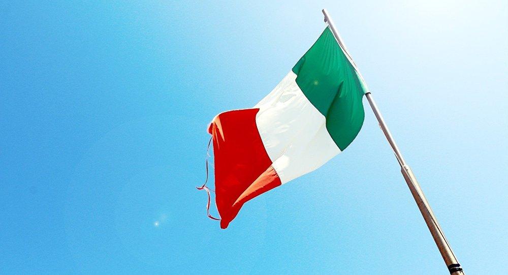 Флаг Италии, фото из архива