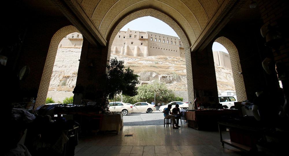 Вид на крепость в городе Эрбиль, Ирак, 29 июля 2017 года