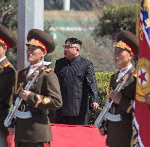 Şimali Koreyanın rəhbəri Kim Çen In, arxiv şəkli