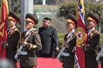 Şimali Koreyanın rəhbəri Kim Çen In Pxenyanda yeni yaşayış kompleksinin açılışında