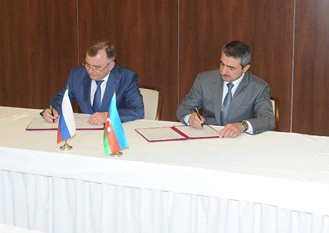 Подписание Протокола рабочей встречи делегаций ФСБ России и Государственной пограничной службы Азербайджана