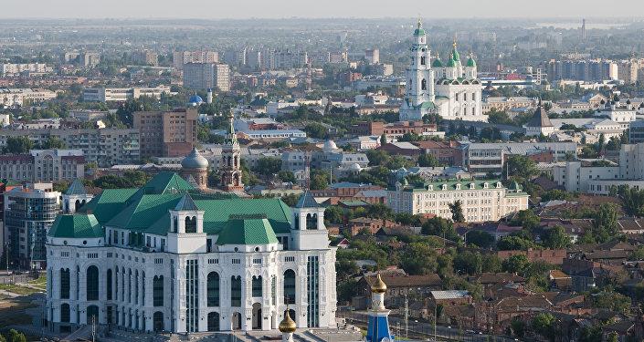 Вид на город Астрахань, фото из архива
