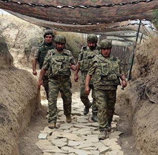 Baş nazirin birinci müavini Yaqub Eyyubov və müdafiə naziri general-polkovnik Zakir Həsənov cəbhəboyu zonada