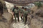 Первый заместитель премьер-министра Ягуб Эюбов и министр обороны Закир Гасанов посетили военные части в прифронтовой зоне