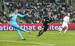 Первый матч раунда плей-офф Лиги чемпионов между азербайджанским Карабахом и датским Копенгагеном