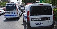 Ərazidəki təcili tibbi yardım və post patrul xidməti avtomobilləri