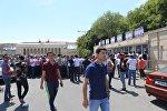 Очереди перед кассами перед игрой Карабах-Копенгаген