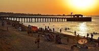 Закат на одном из абшеронских пляжей