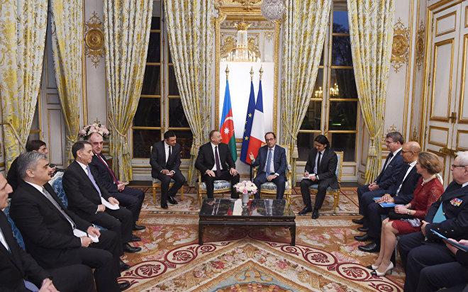 Встреча президентов Азербайджана и Франции Ильхама Алиева и Франсуа Олланда
