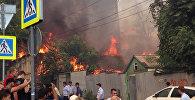 Пожарные при поддержке авиации ликвидировали открытое горение в Ростове-на-Дону