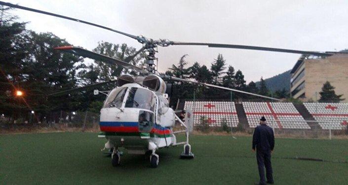 FHN helikopteri Gürcüstanda meşə yanğınlarının söndürülməsi əməliyyatıında