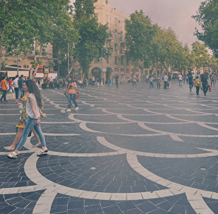 Загрязненный пылью воздух в Баку, фото из архива