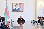 """İlham Əliyev """"Qarabağ"""" futbol klubunun heyətini qəbul edib"""