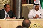 Birləşmiş Ərəb Əmirliklərinin xarici işlər naziri Abdulla bin Zayed əl-Nahyan rusiyalı həmkarı Sergey Lavrovla