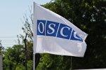Флаг с логотипом ОБСЕ в Вене, фото из архива
