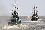 Учения батальона морской пехоты Каспийской флотилии РФ