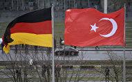 Флаги Германии и Турции